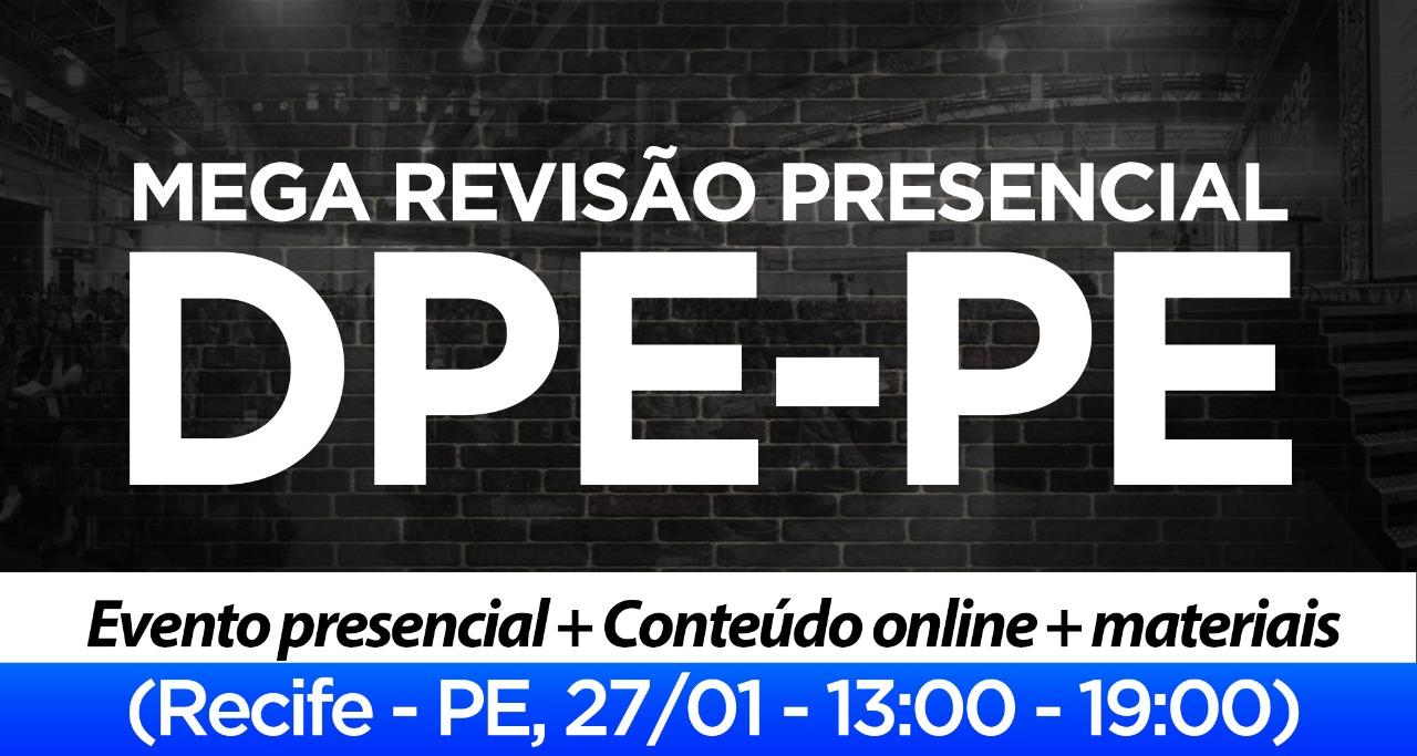 MEGA REVISÃO DE VÉSPERA PRESENCIAL EM RECIFE-PE
