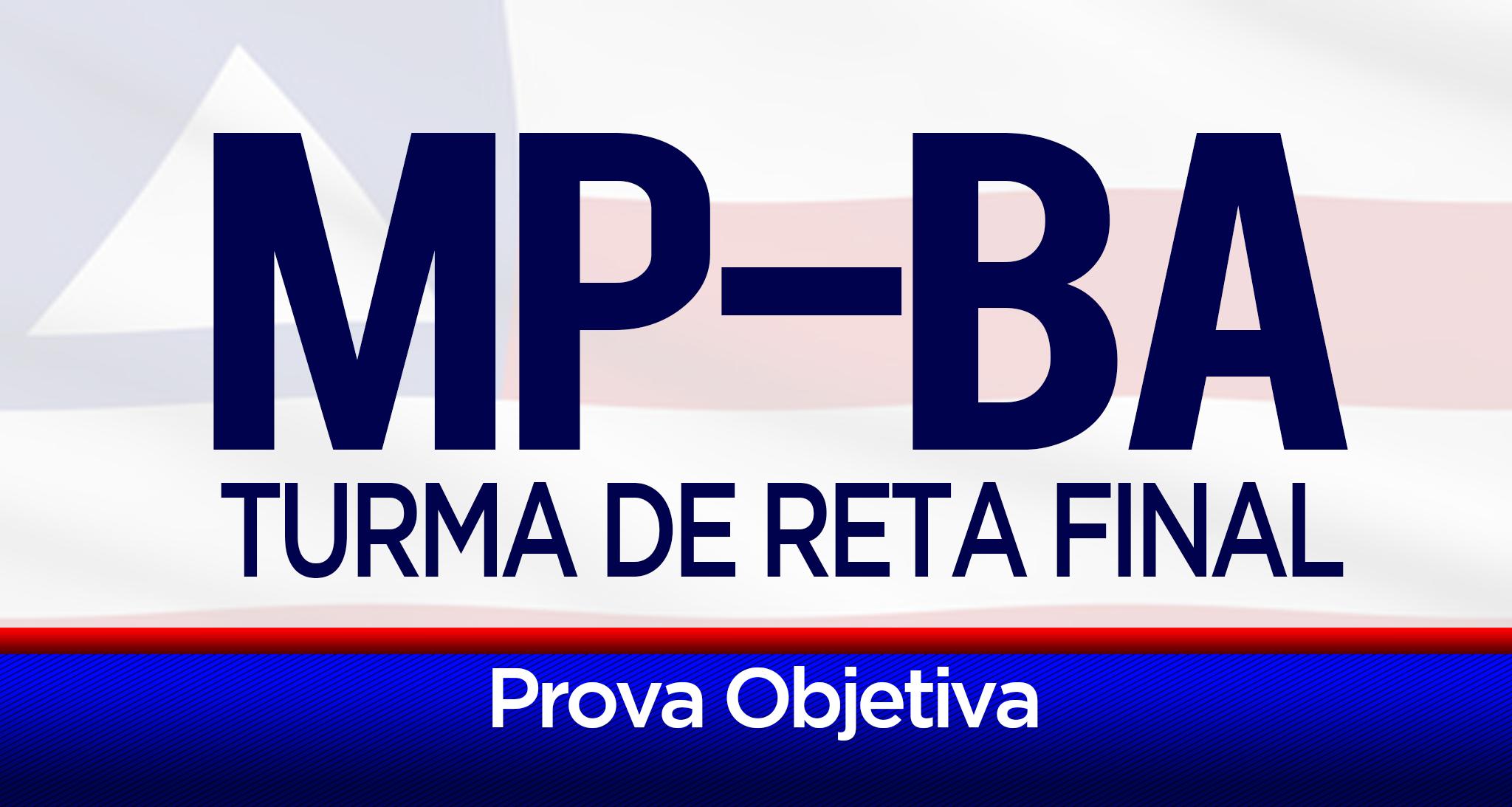 Turma de reta final específica para o concurso do Ministério Público Estadual da Bahia. Conta com materiais impressos, aulas expositivas, simulados e muito mais.