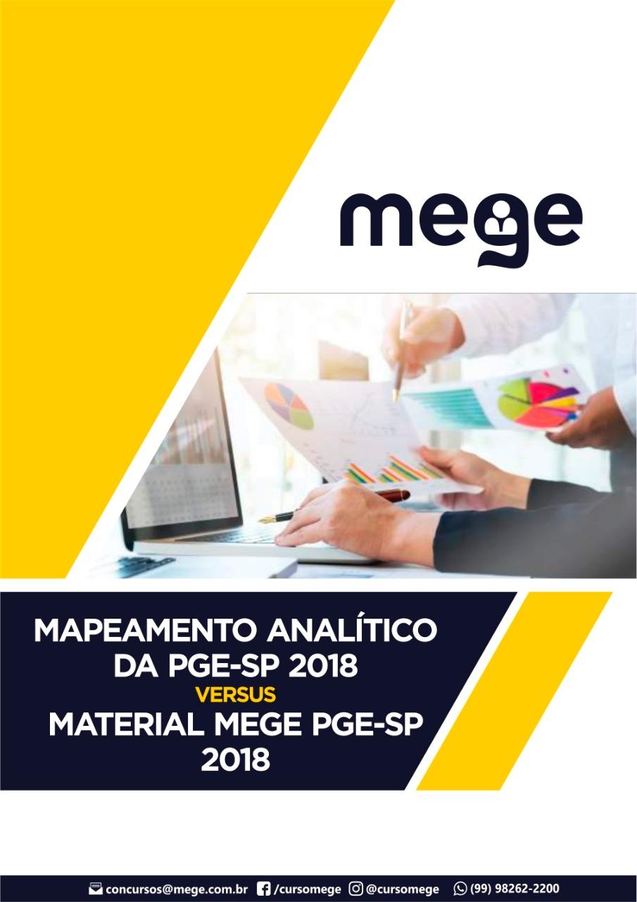 E-book com o comparativo entre o material Mege e o que foi, efetivamente, cobrado na prova da Procuradoria Geral do Estado de São Paulo (PGE-SP). Também está disponível o conteúdo da primeira rodada da turma de Advocacia Pública.