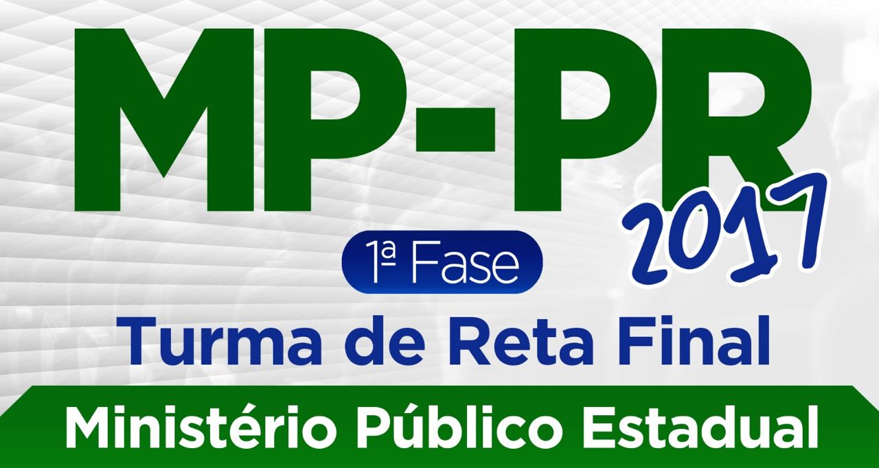 1ª Fase MP-PR (Reta Final)